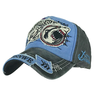Wholesale patch cotton shark baseball cap