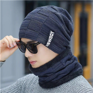 Wholesale letter label cotton knitted hat