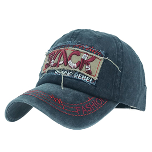 Wholesale letter embroidered washed cotton baseball cap