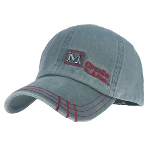 Wholesale embroidered washed cotton sunshade baseball cap