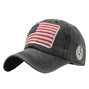 Wholesale American flag cotton embroidered baseball cap