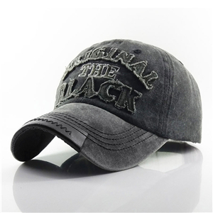 Wholesale washed cotton embroidered patch hat