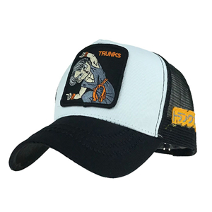 Comic pattern embroidered cotton cheap baseball cap