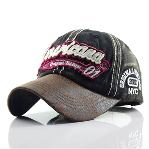 Letter embroidered washed cotton baseball cap cheap from China