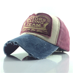 Wholesale printed patch washed cotton baseball cap