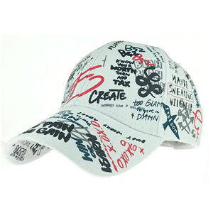 China wholesale letter print cotton baseball cap