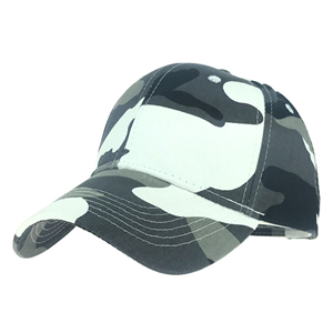 Camo printed cotton cheap baseball cap