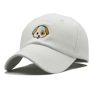 Wholesale dog embroidered cotton baseball cap