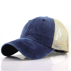 Washed cotton mesh baseball cap cheap from China
