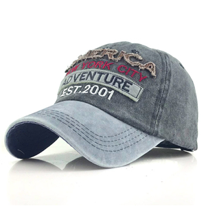 China wholesale letter embroidery cotton baseball cap