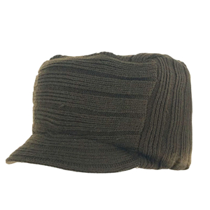 China wholesale solid color wool tongue knit hat