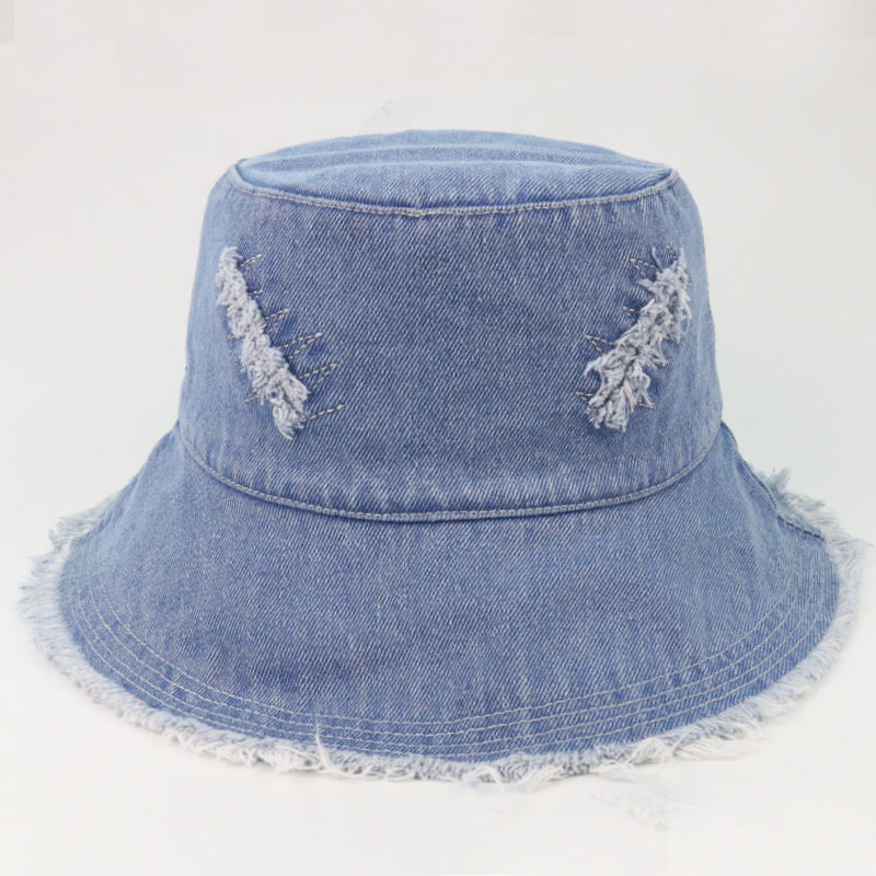 Cowboy brushed fisherman hat solid color women Bucket Hats