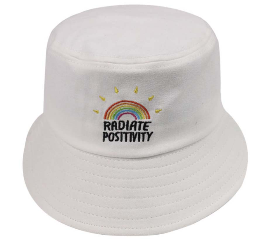 Wholesale letter embroidery men bucket hats rainbow