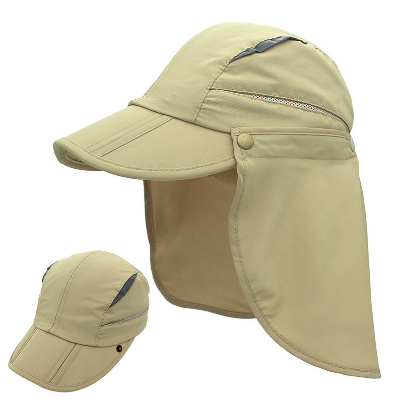 Breathable Detachable Fishing Cap Two Size UV Protection  Polyester Outdoor Hat