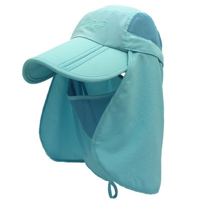 360 Degree UV Protection Hat Quick Dry Polyester Climbing Fishing Sun Hat